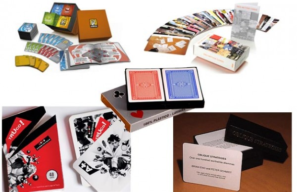 Exemplos de embalagens de baralhos