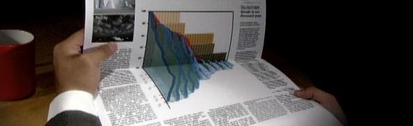 Jornal com imagem 3D