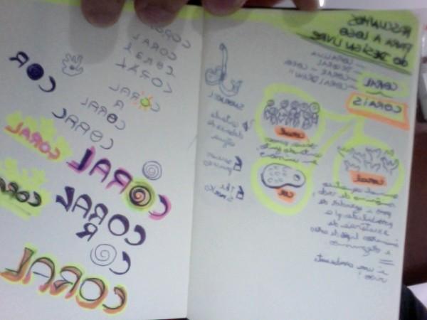 Rascunhos para logo do Corais.org